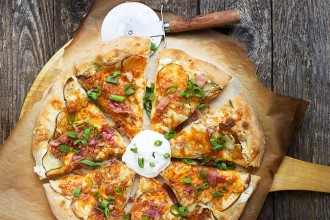 Spicy Perogy Pizza