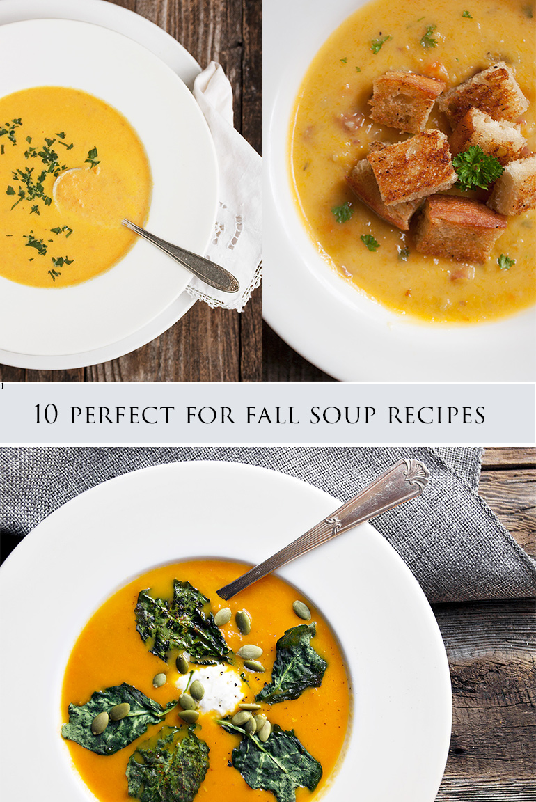 collage of soup recipe photos