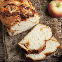 apple and cheddar cheese yeast bread sliced