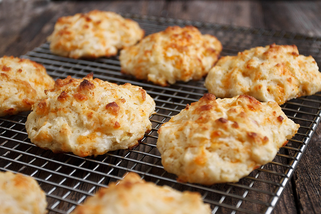 Easy Cheddar Apple Drop Biscuits
