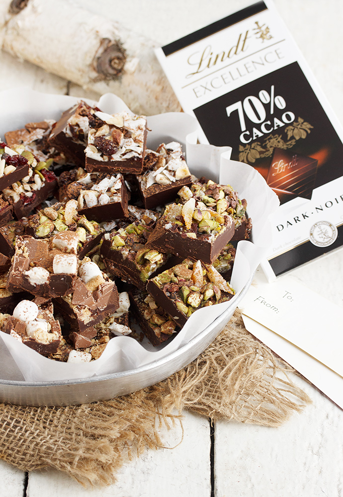 Easy 4 Flavours in 1 Pan Chocolate Truffle Squares