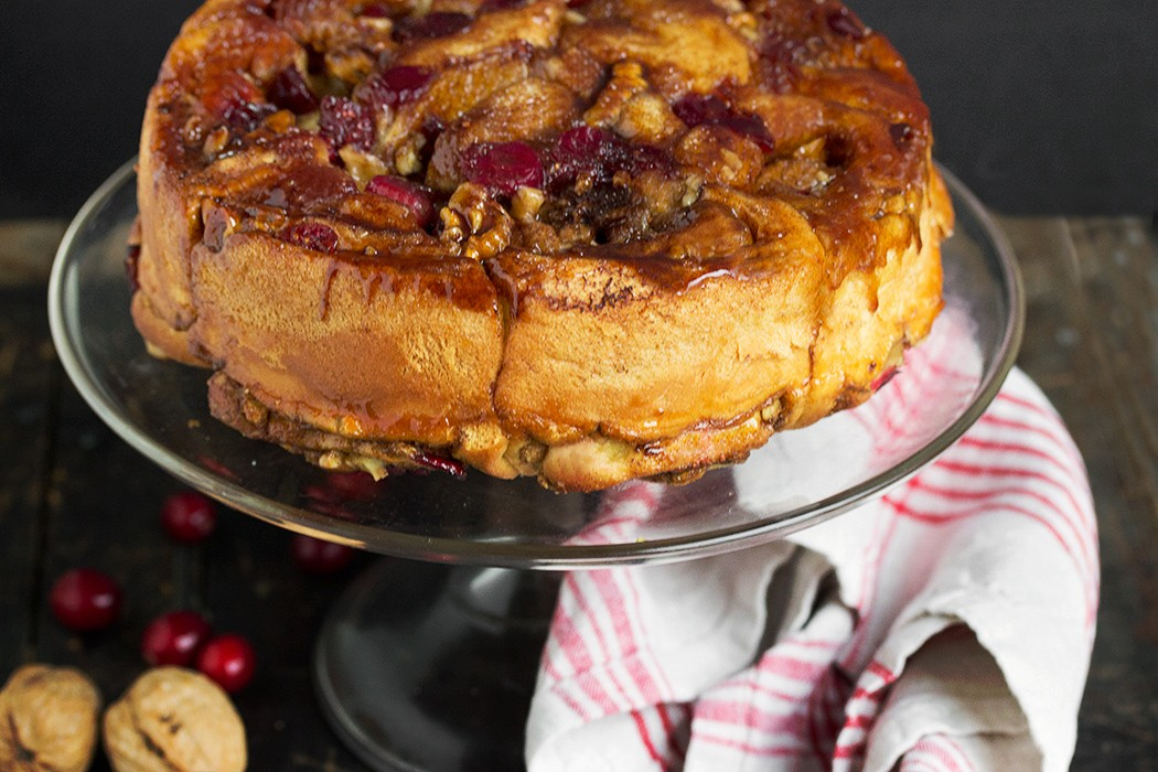 Cranberry Walnut Sticky Buns