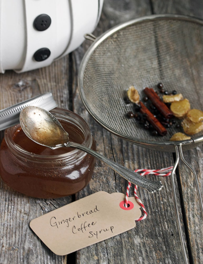 Homemade Gingerbread Coffee Syrup