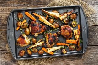 Sheet-Pan Honey Mustard Chicken and Vegetables