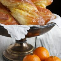 Glazed Bittersweet Orange Twists