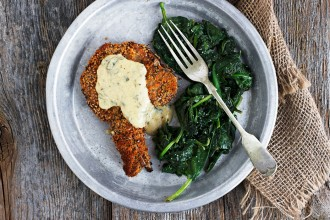 Crispy Breaded Pork Chops with Mustard Sauce