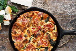 Weekend Eating: Parmesan, Spinach and Pancetta Bread Pudding