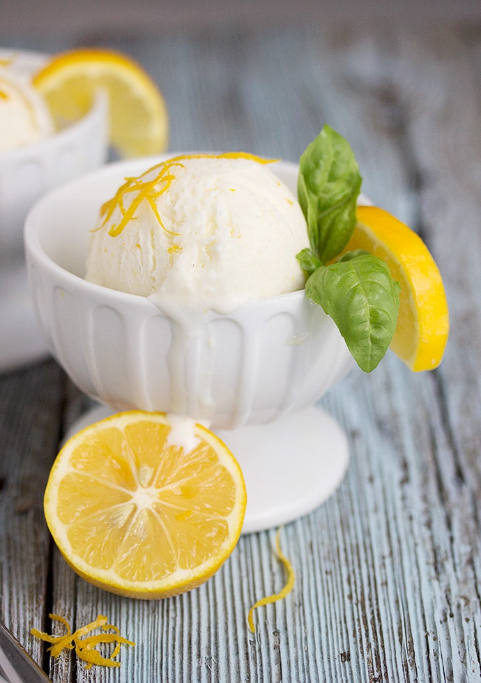 No-Churn Meyer Lemon Ice Cream
