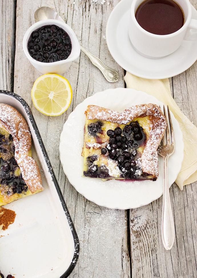 Pannukakku Finnish Pancake with Wild Blueberries