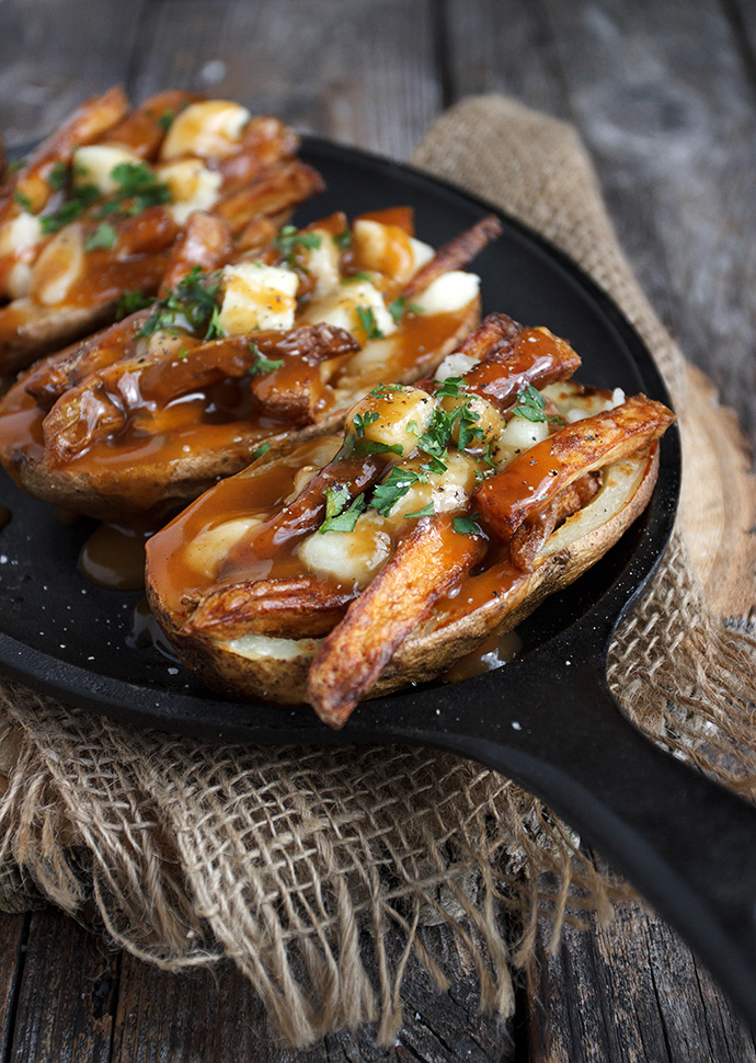 Poutine Potato Skins