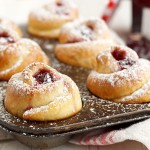 Raspberry Jam Rose Buns