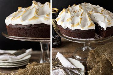 Chocolate Guinness Cake with Cloud Frosting
