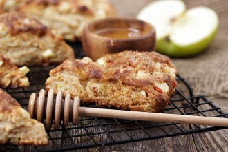 Honey Apple Scones