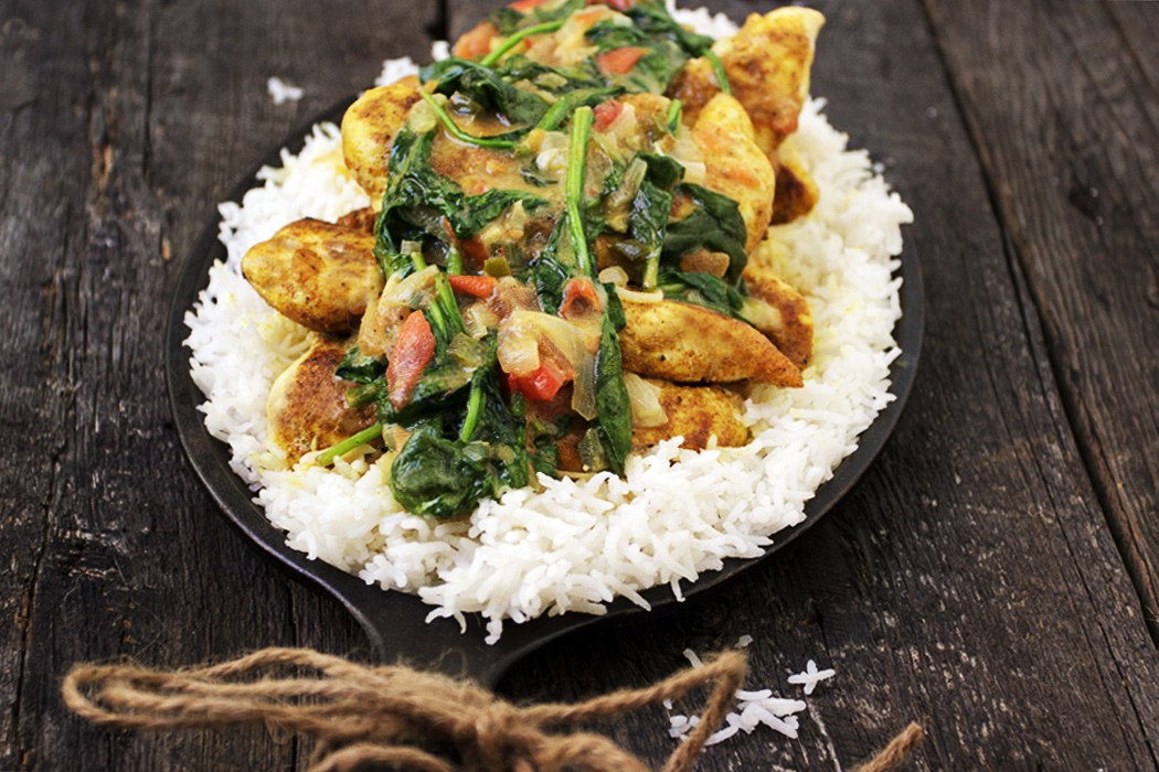 Brazilian Chicken with Spinach