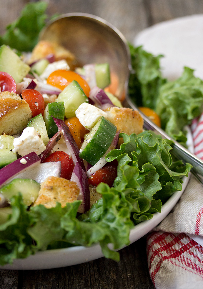 Greek Panzanella greek panzanella salad - seasons and suppers