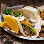 Slow Cooker Orange Pork Tacos with Broccolini