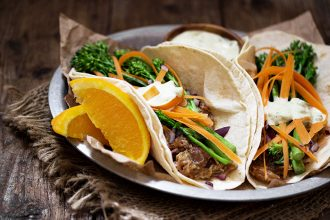 Slow-Cooker Orange Pork Tacos with Broccolini