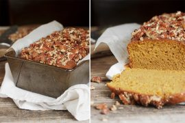 Sweet Potato Bread with Sweet and Spicy Pecans