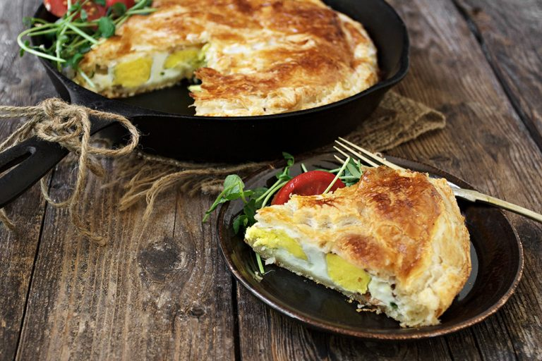 Skillet Bacon and Egg Pie