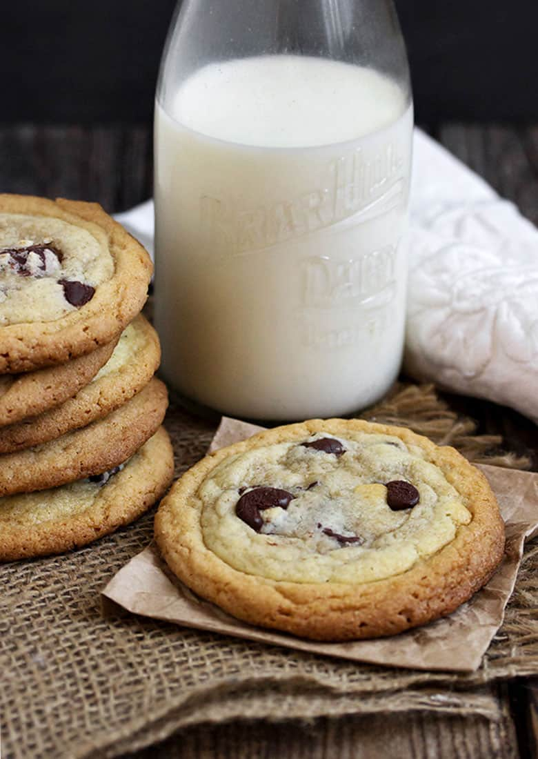 double layer peanut butter chocolate chip cookies