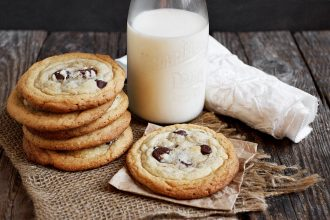 Doubly Delicious Double Layer Cookies - a peanut butter cookie on the bottom with a chocolate chip cookie on top!