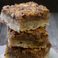 maple walnut squares stacked up