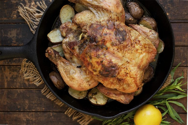 Tarragon Lemon Roast Chicken and Potatoes