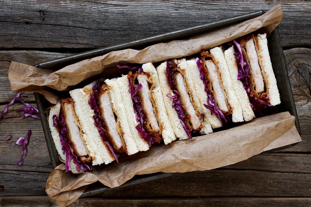 Pork Tonkatsu Sandwiches