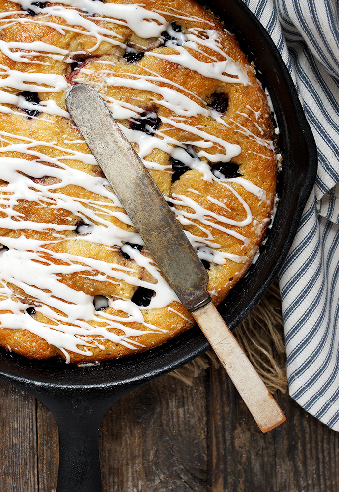 Skillet Sweet Black Cherry Kuchen