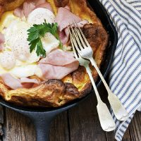 Eggs Benedict Dutch Baby