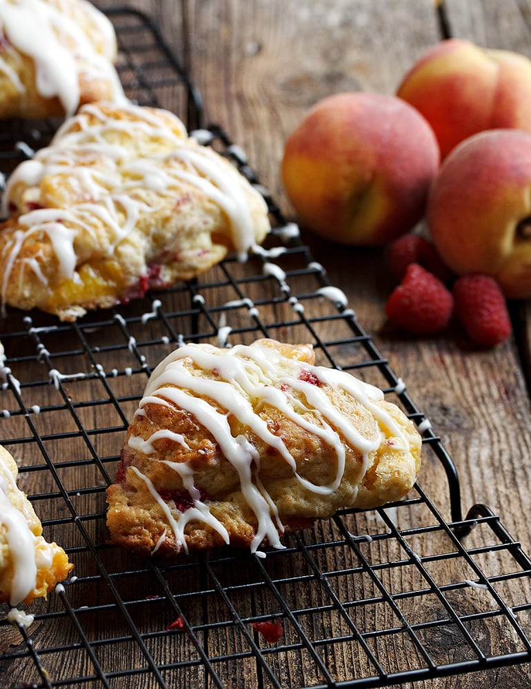 Peach Melba Scones