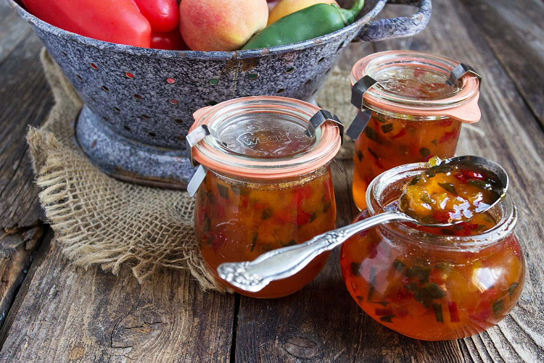 Peach and Pepper Jam