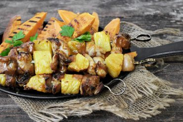 Chipotle Chicken and Pineapple Skewers