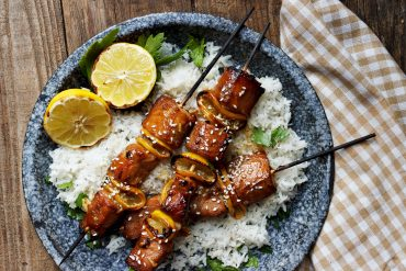 Grilled Sesame Soy Salmon Skewers