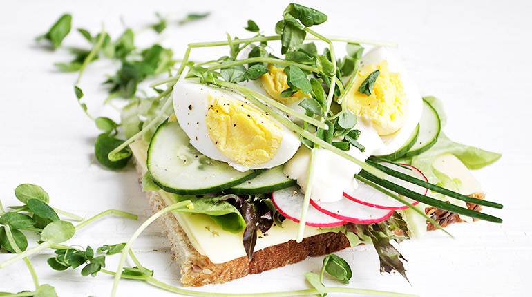 Egg Open-faced Sandwich with Jarlsberg