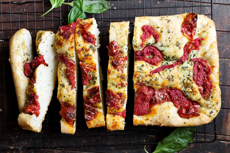 Roasted Tomato and Garlic Focaccia