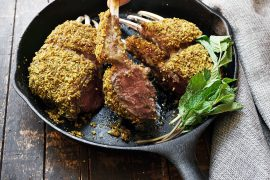 Almond Panko Crusted Lamb Lollipops