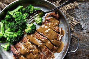 Pork with Indonesian Style Peanut Sauce