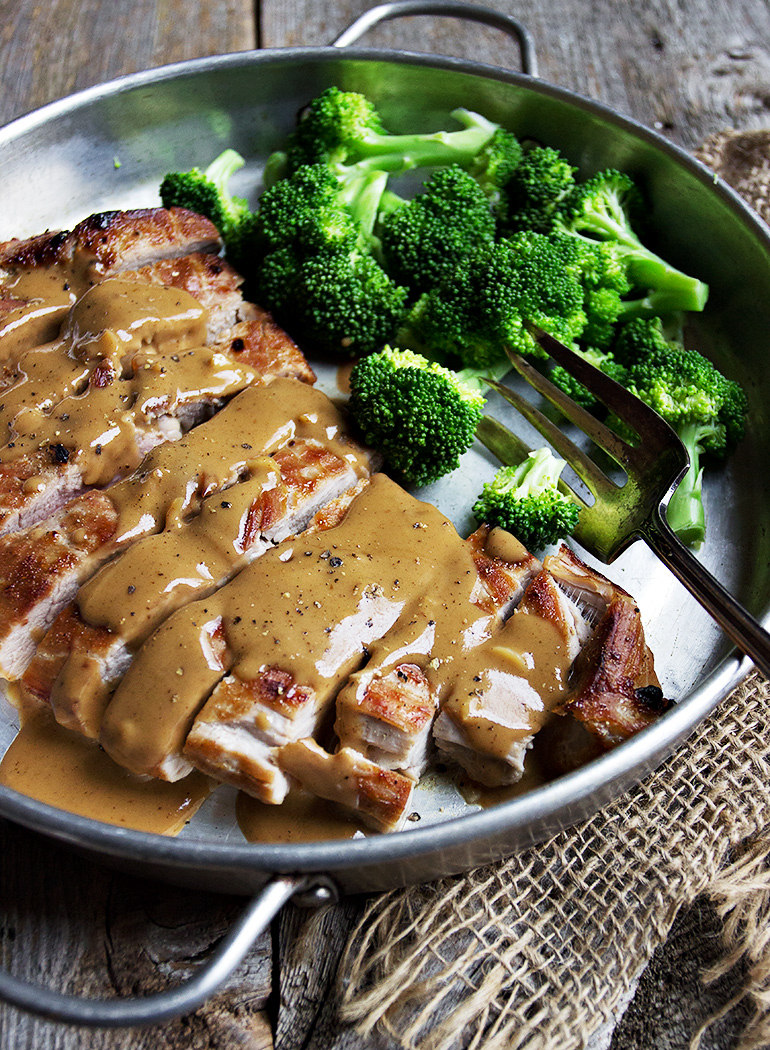 Pork Tenderloin with Indonesian Style Peanut Sauce