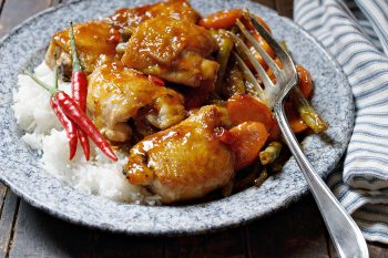 Sweet (or Hot) and Sour Chicken Thighs