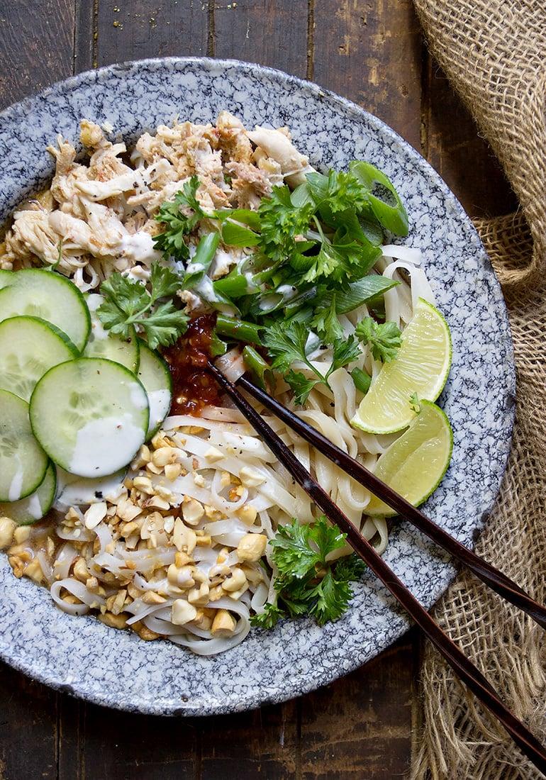 Vietnamese Chicken Noodle Bowl