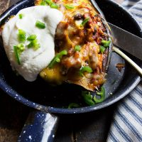 Turkey Enchilada-Filled Acorn Sqaush