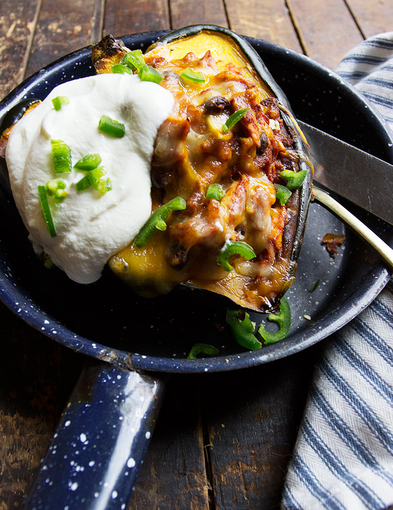 Turkey Enchilada Acorn Sqaush