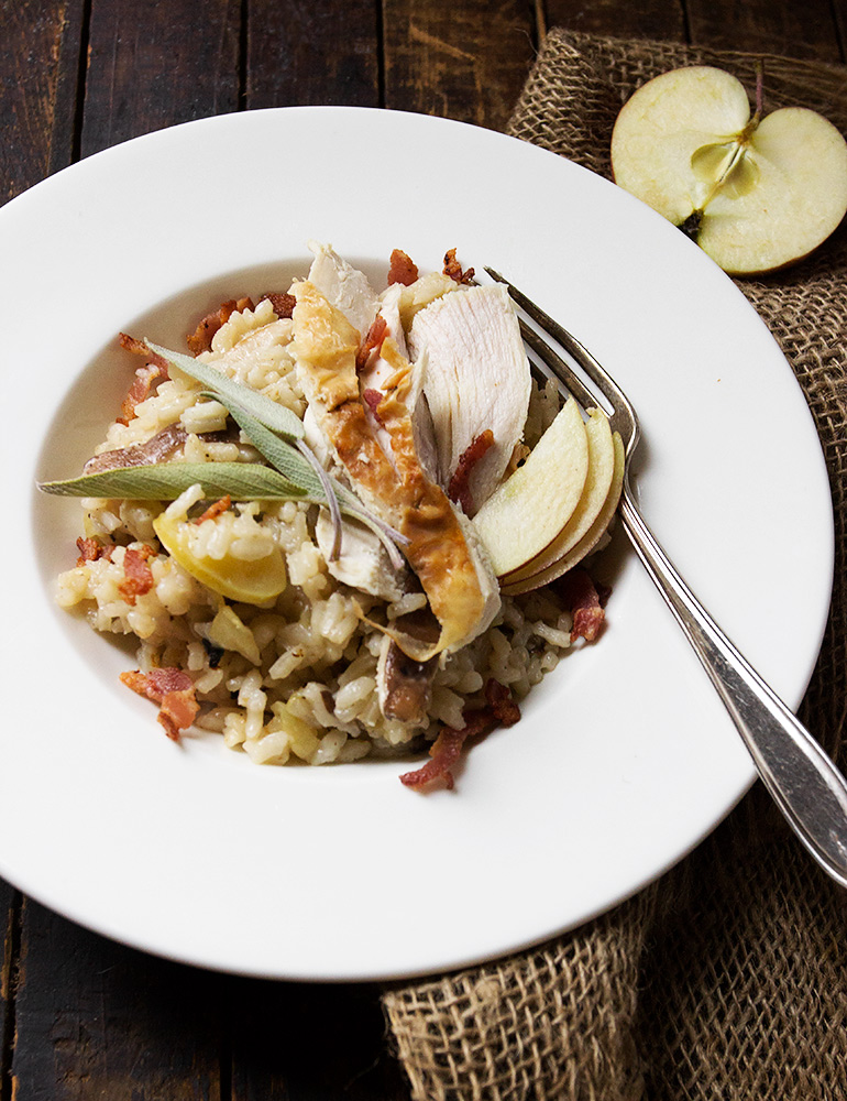 Apple, Mushroom and Sage Risotto