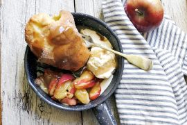 Caramel Apple Popover Skillet