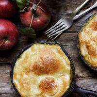 chicken or turkey curry apple pot pies