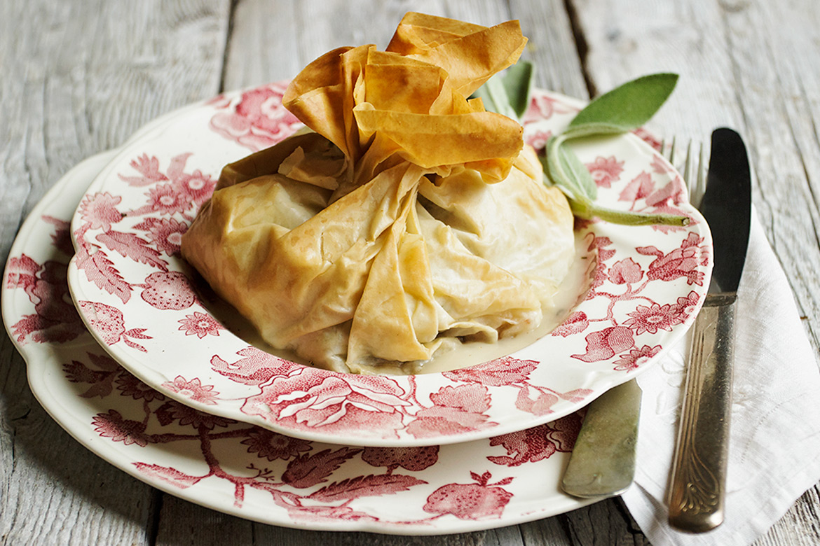 Turkey and Stuffing Phyllo Packets