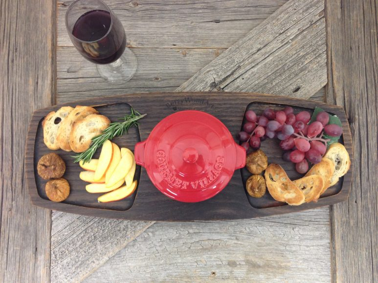 Wooden Baked Brie Serving Tray