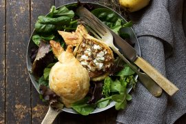 Pastry-Wrapped Pears with Goat Cheese and Honey