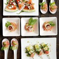 Fast and Festive Watermelon Hors D'ouvres